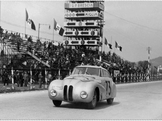 In 1940 BMW won the 1st Italian Mille Miglia Grand Prix, undisputedly one of their finest victories of the 20th century, the German-built Touring Coupé silencing the Italian nation