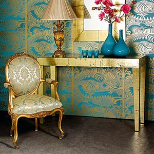 Versailles Damask Gold Seat, The French Bedroom Company
