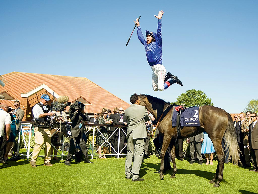 Frankie Dettori after winning the QIPCO 1000 Guineas Stakes