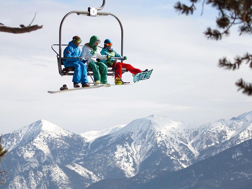 ski lift skiing snowboarding - photo #3
