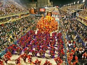 Samba parade in Brazil