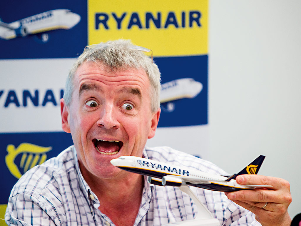 One of the world's most colourful CEOs, Ryanair boss Michael O'Leary has played a major role in the development of Europe's travel and tourism sector
