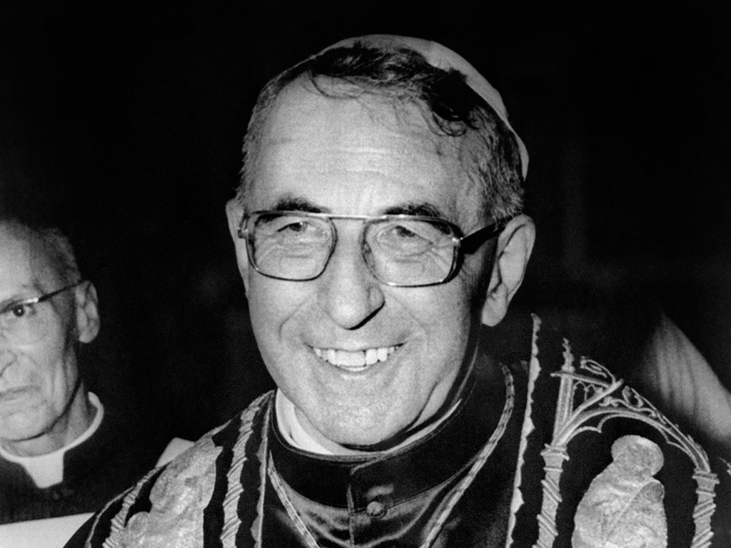 'The Smiling Pope', John Paul I. He was Pope for just 33 days, before he died on suspicious circumstances in 1978