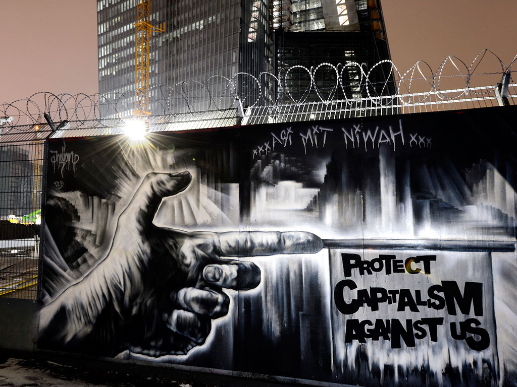 Protect-capitalism-against-us-mural-outside-new-ECB-headquarters