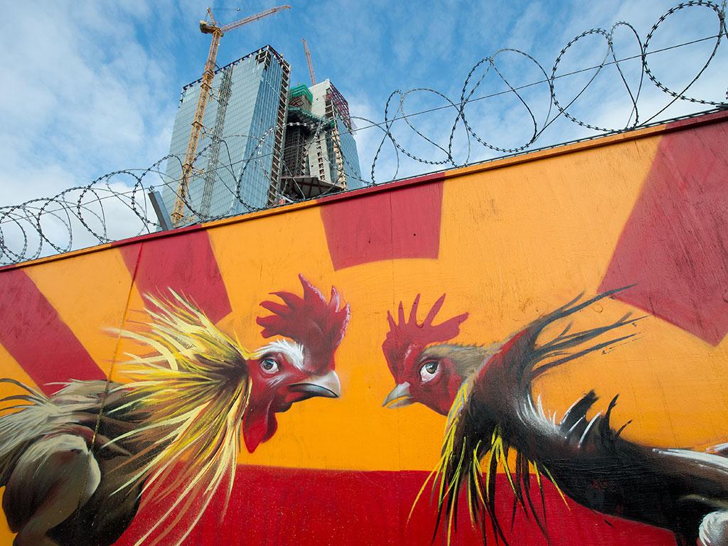 graffiti-outside-new-ECB-headquarters