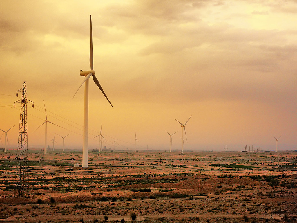 A wind farm in China. The EU and China are currently forging a green goods agreement between the two regions