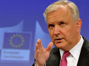 "The European Commission's latest figures indicate Europe is in recovery, though Olli Rehn, the Commissioner for Economic and Monetary Affairs, was keen to emphasise that the figures were ""modest"""