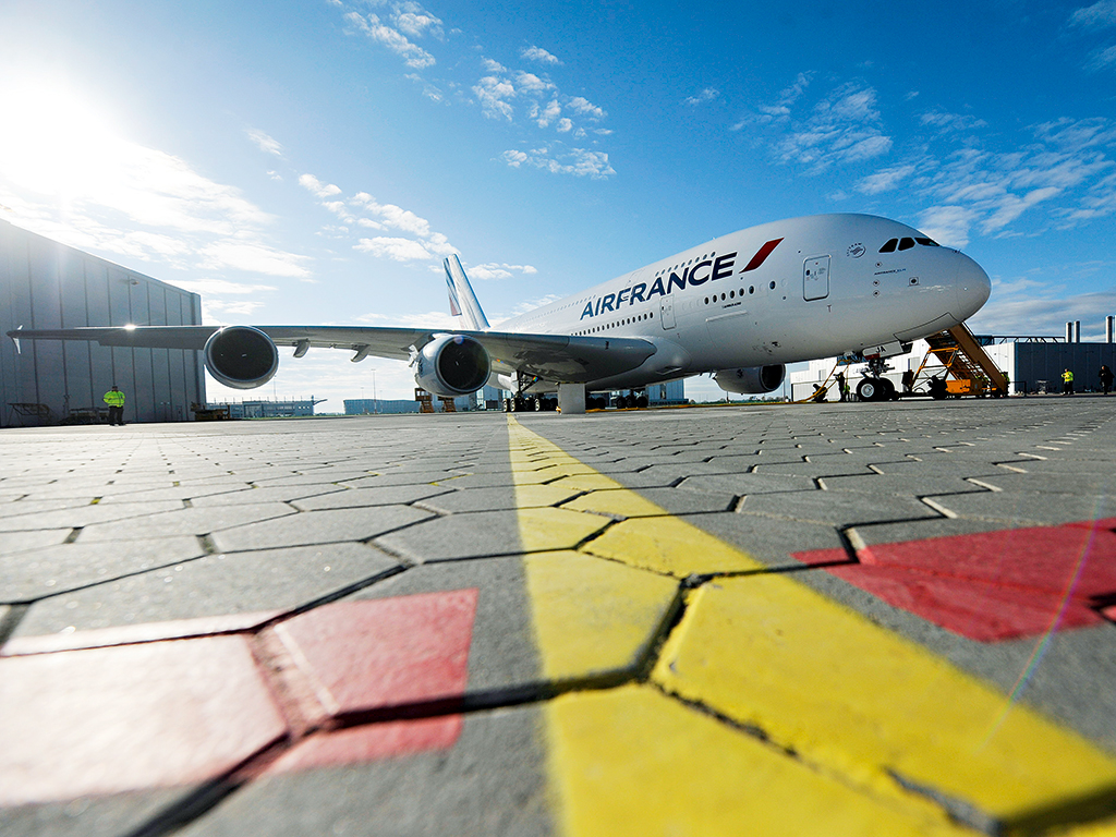 The Air France A380. De Juniac has ordered the fleet to be completely reconfigured