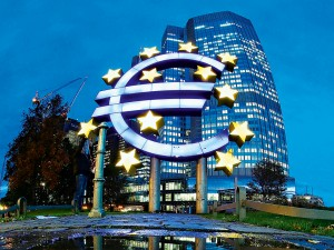 Headquarters of the ECB. In a controversial move, the bank has implemented negative interest rates in an attempt to stimulate economic growth in Europe