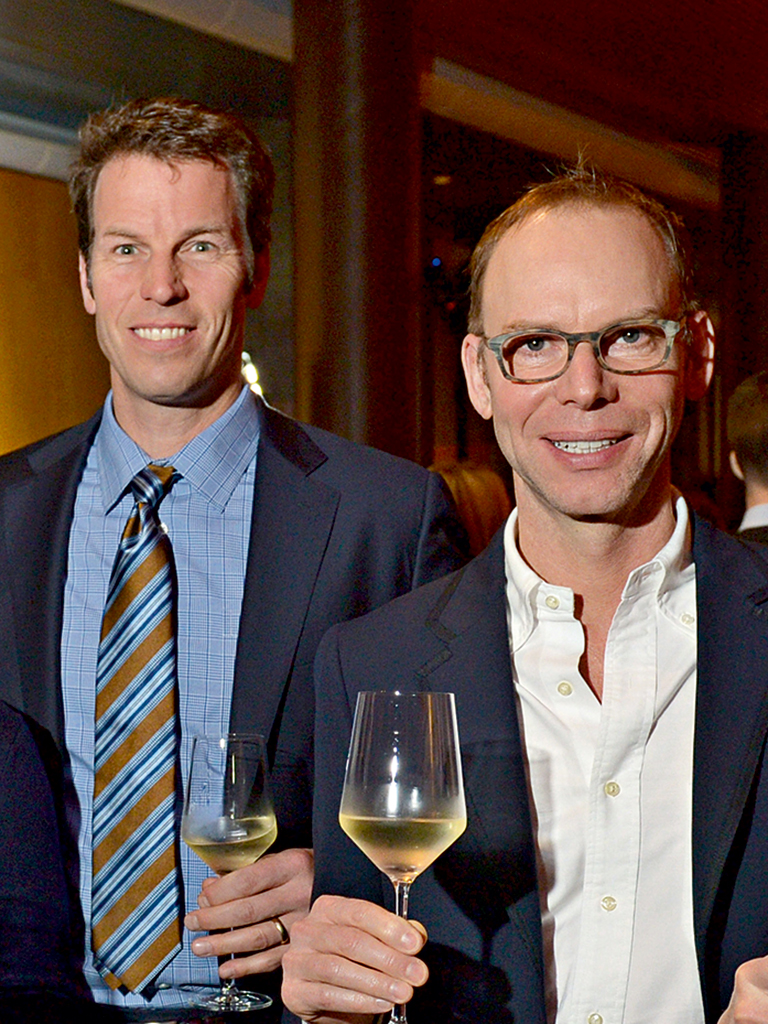 Chipotle's co-CEOs Monty Moran (l) and Steve Ells (r). The partnership has led to a near-doubling of profits