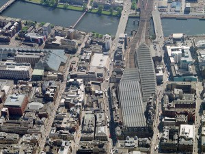 An aerial view over Glasgow. Developers in the city are concerned that Scottish independence could ward off important investments to transport, housing and the arts