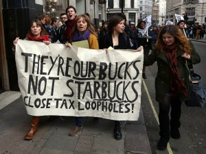 Starbucks tax protest
