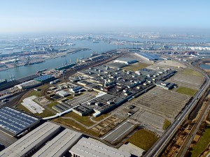 The Churchill Industrial Zone at the Port of Antwerp. The port, which is one of the busiest rail and inland waterway hubs in Europe, offers great connections to countries such as Germany, Belgium and France
