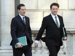 Chancellor George Osborne and Chief Secretary of the Treasury Danny Alexander. Osborne today announced reforms for national tax and stamp duty, as well as additional funding for the NHS