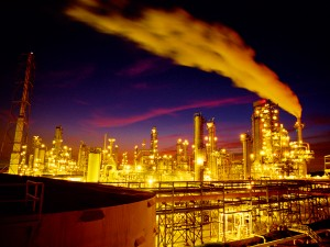 An oil refinery in Port Arthur, Texas. The city has an abudance of oil and gas, and is welcoming a host of businesses in the petrochemical sector