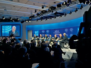 Ebola, oil, nuclear weapons and climate change are talking points for global leaders at 2015's World Economic Forum in Davos