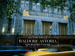 In a record deal, Hilton Worldwide has sold its Waldorf Astoria hotel to China-based insurance firm Anbang for $1.95bn