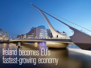 A European Commission shows that Ireland is set to become the EU's fastest-growing economy. Still, the country remains volatile, with a debt-to-GDP ratio of 115 percent