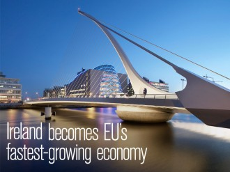Growth expected to reach 3.5 percent over the next year would make Ireland the EU's fastest-growing economy