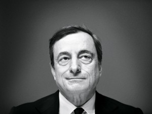 Mario Draghi, President of the ECB. Draghi has finally succeeded in pushing through a quantitative easing programme for the eurozone, but many question whether it is too little too late