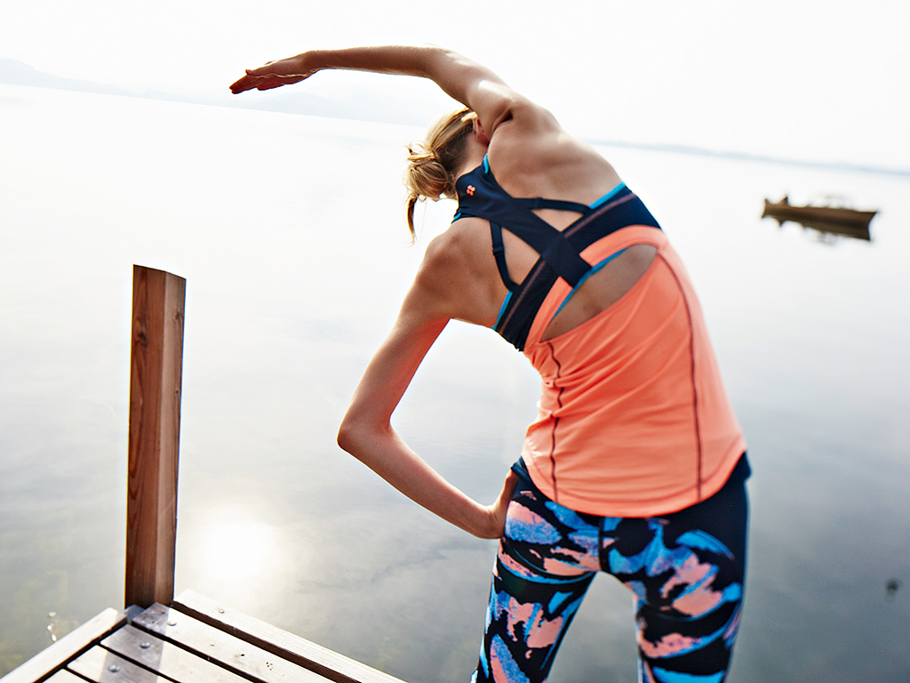 Bright colours and patterns are the hallmark of activewear