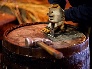 A whisky cask. Findings by the Scotch Whisky Association suggests that it contributes over £5bn to the British economy and provides over 40,000 Britons with a job
