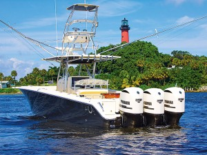 Sailing in style: the owners of Bahama Boat Works believe that if you're going to be on the water, you should choose the finest fishing boat to do so