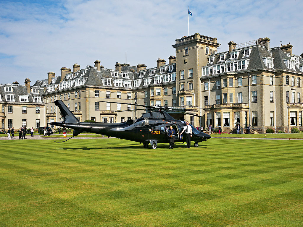 The Ryder Cup trophy arriving at Gleneagles Hotel