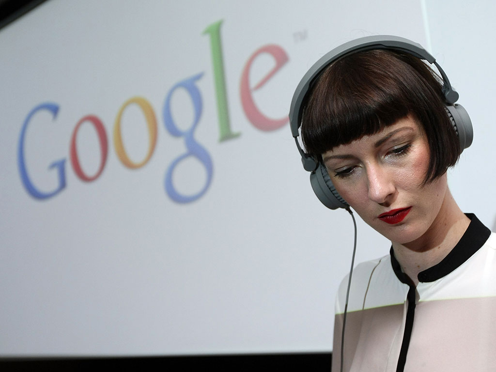 A DJ plays music at Google's new office in Berlin