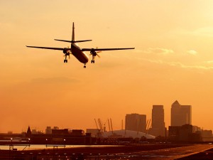 London City Airport's runway. The airport is building to meet the rising demand for business travel