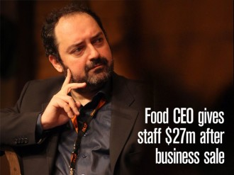 Turkish CEO Nevzat Aydin sells food delivery service for $589m and gives employees $27m