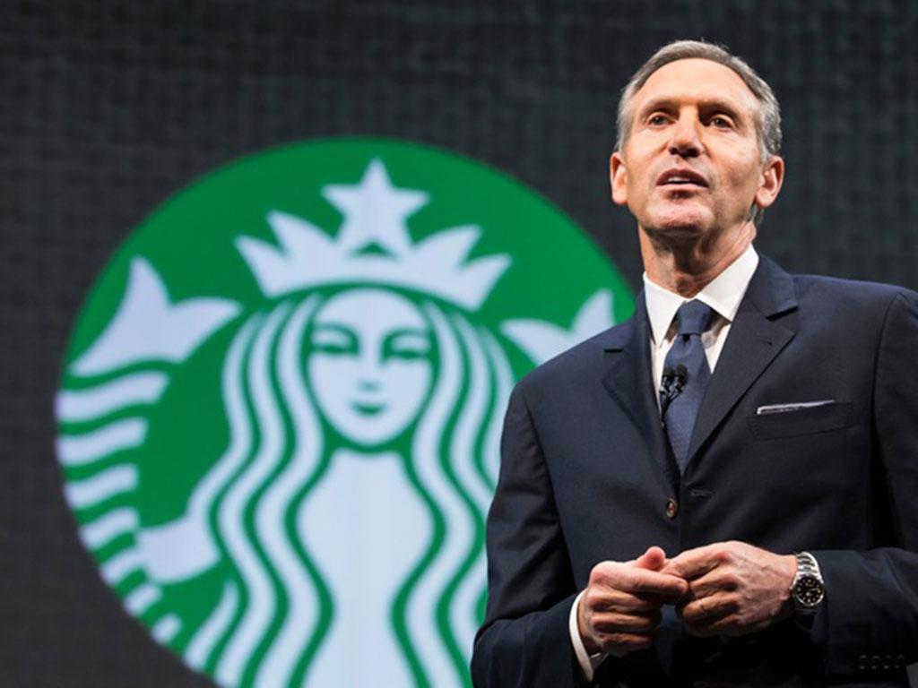 howard schultz a leader Not only did schultz foresee that a large-scale coffee shop chain was a lucrative  business, but he maintained starbucks lead through a combination of customer.