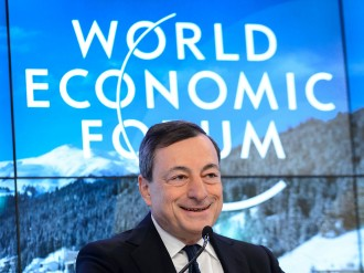 ECB President Mario Draghi gives his predictions for the coming year, revealing a cautious optimism tinged with a few warnings