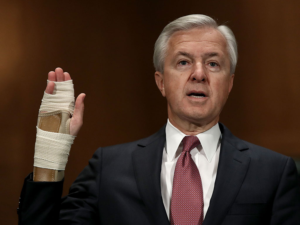 Wells Fargo Chief Executive, John Stumpf, is to step down immediately, receiving no severance payment