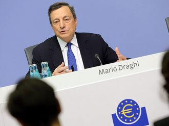 """ECB President, Mario Draghi, stressed that the eurozone's quantitative easing programme """"remains flexible"""", announcing asset purchases will decrease as they are extended over a longer time frame"""
