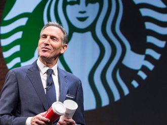 Starbucks Chief Executive, Howard Schultz, will pass leadership over to company president and COO, Kevin Johnson, in April next year