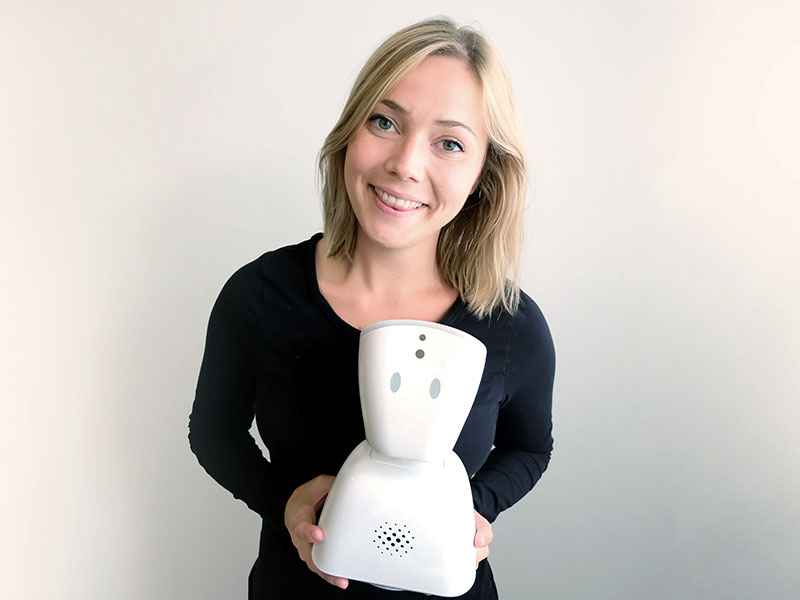 Karen Dolva has created a robot to help children with feelings of isolation