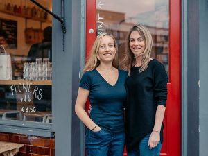 Business partners Saasha Celestial-One (left) and Tess Cook. Together they founded food sharing app, Olio, which aims to cut food waste