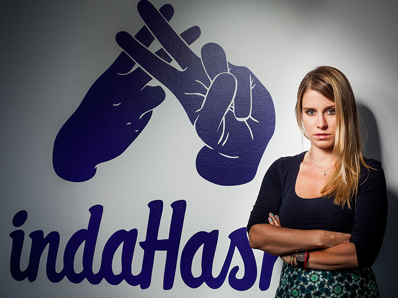 Barbara Soltysinska, the CEO and co-founder of indaHash.com, which helps influencers profit from their audience size