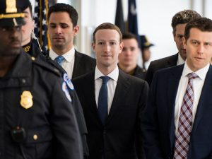 Mark Zuckerberg arrives at Capitol Hill to testify before the Senate Judiciary and Commerce committees regarding the harvesting of Facebook users' data by Cambridge Analytica