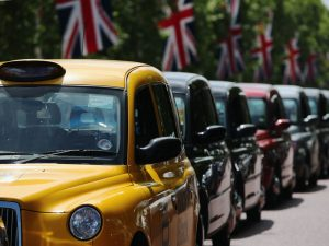 London's licensed taxi drivers caused gridlocks in London during a protest against Uber in 2014. Drivers say the app lacks appropriate regulation