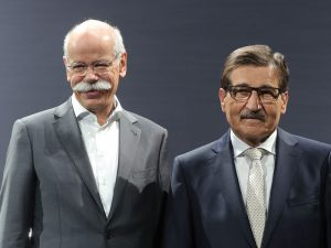 Dieter Zetsche (left) will step down as the company's CEO in 2019; he will be replaced by Ola Källenius. Manfred Bischoff (right) has recommended that Zetsche succeeds him as chairman of the supervisory board