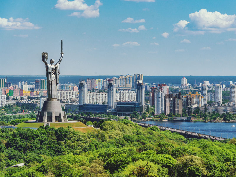 Kiev, Ukraine. The Revolution of Dignity that engulfed the city in 2014 was the catalyst for the widespread reforms that have occurred across the country in subsequent years